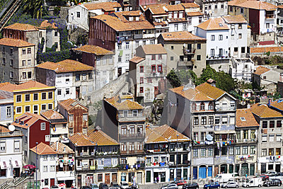 Portugal: Buildings of Porto Editorial Photo