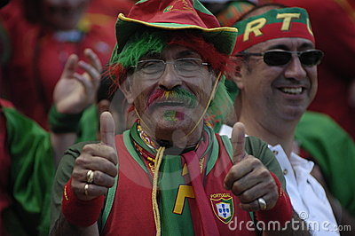 Portugal Fan at EURO 2008 Editorial Stock Image