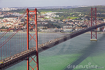 Portugal. Lisbon. The 25th of April Bridge