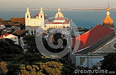 Portugal, Lisbon: Church near the Taje river
