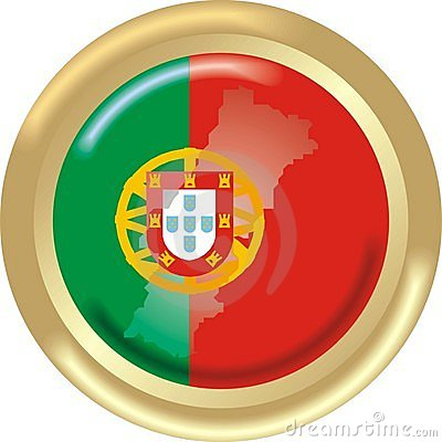 Portugal map and flag
