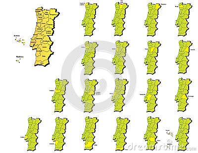 Portugal provinces maps