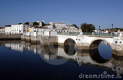 Portugal, Tavira, Algarve, old roman bridge
