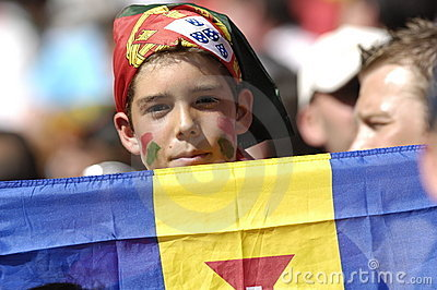 Portugal young Fan at EURO 2008 Editorial Image