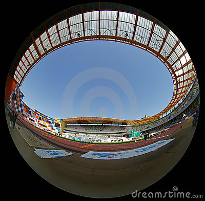 Portuguese Athletics Championship, stadium view Editorial Stock Image