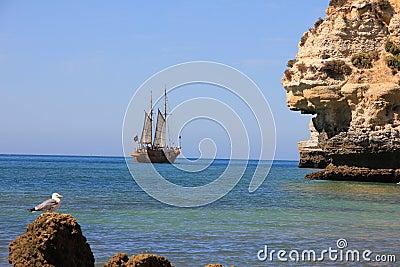 Portuguese Caravel Ship carvoeiro