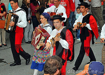 Portuguese Dance Group Editorial Stock Photo