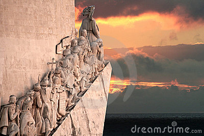 Portuguese Discovery Monument Editorial Stock Image