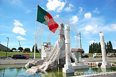 Portuguese flag in Eduardo VII park