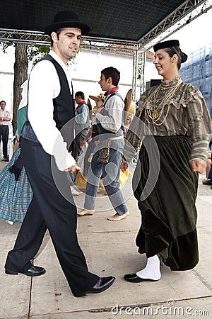 Portuguese Folklore Dancers Editorial Photo