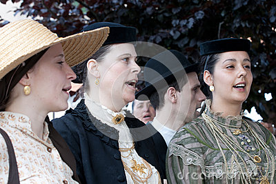 Portuguese Folklore Singers Editorial Image