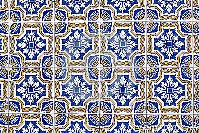 Portuguese glazed tiles 068
