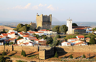 Portuguese historical fortress of Braganca