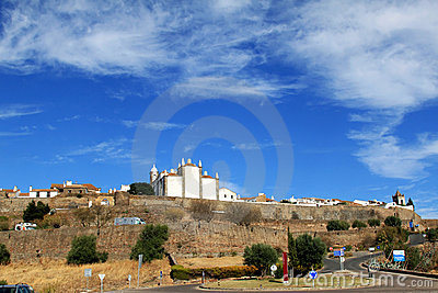 Portuguese historical fortress of Monsaraz Editorial Photography