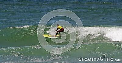 Portuguese Longboard Championship,  Nuno Santos Editorial Image