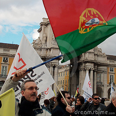 Portuguese Teachers Protest Editorial Photo