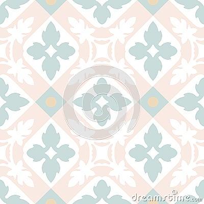 Free Portuguese Tiles Seamless Pattern. Vintage Background Stock Photo - 64028130