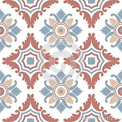 Free Portuguese Tiles, Seamless Pattern. Vintage Background Royalty Free Stock Photos - 65841178