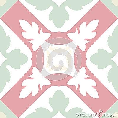 Free Portuguese Tiles Seamless Pattern. Vintage Background - Victoria Stock Photos - 63881593