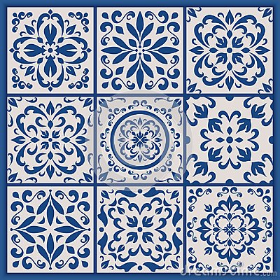 Free Portuguese Tiles With Azulejo Ornaments Stock Image - 100523631