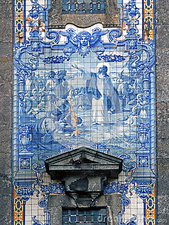 Free Portuguese Traditional Religious Tiles Royalty Free Stock Photography - 36384857