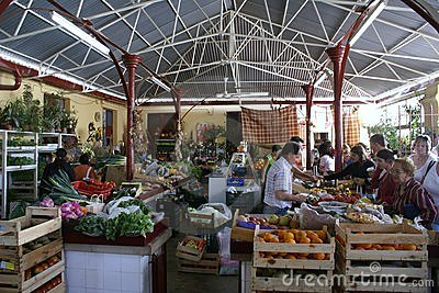 Portuguese village market places for genuine food Editorial Image
