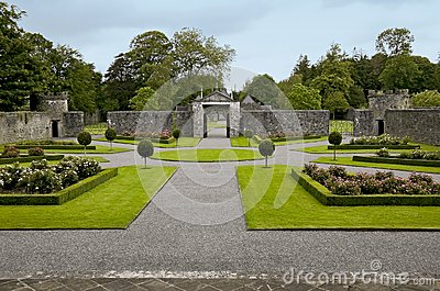 Portumna Castle courtyard and gates