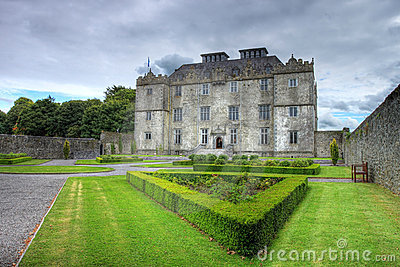 Portumna Castle and gardens in Ireland.
