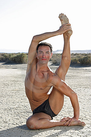Posa maschio di yoga