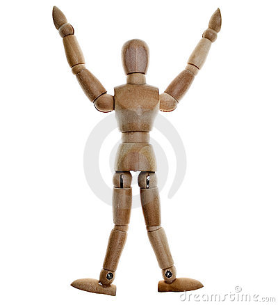 Free Posed Wooden Mannequin Stock Images - 8471364
