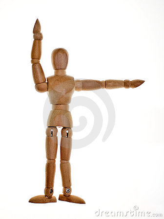 Free Posed Wooden Mannequin Royalty Free Stock Photo - 8471945