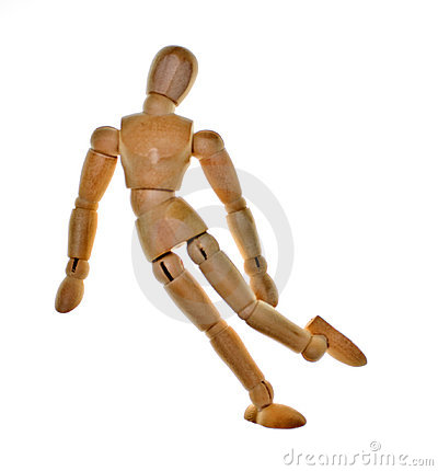 Free Posed Wooden Mannequin Royalty Free Stock Photos - 8480448