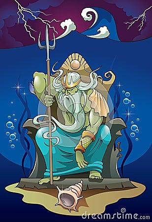 Poseidon, dios del mar