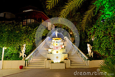 The Poseidon fountain at luxury hotel