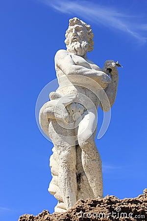 Poseidon statue plaka beach zakynthos island royalty free stock photography image 36540047 - Poseidon statue greece ...