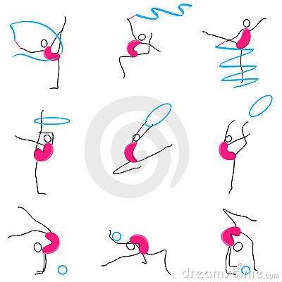 Poses of Gymnastic