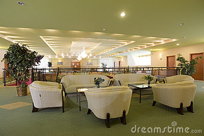 Posh furnished lobby