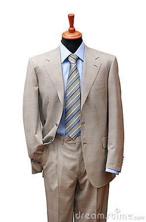 Free Posh Suit On Shop Mannequin Stock Images - 3648424