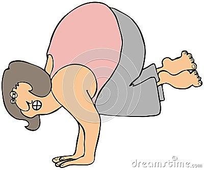 Posición del pino de la yoga