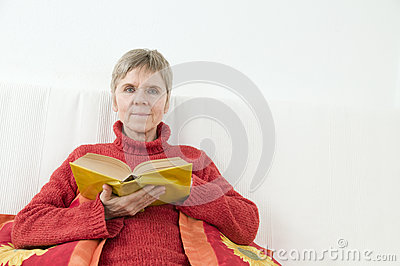 Posing with book