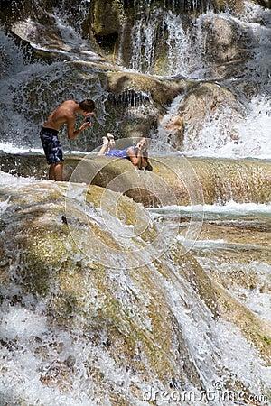 Posing Dunns Falls Jamaica