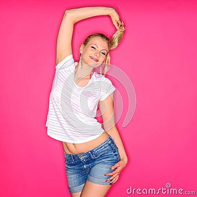 Free Posing Girl On Studio Stock Images - 40731634
