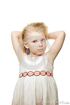 Posing small girl