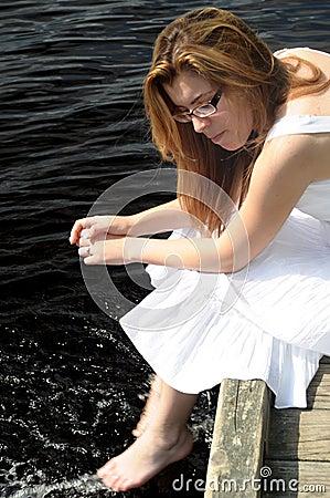 Pretty Teenage Girl Posing in the Sun