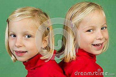 Posing twins