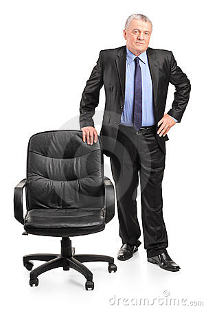 Posição madura do homem de negócios
