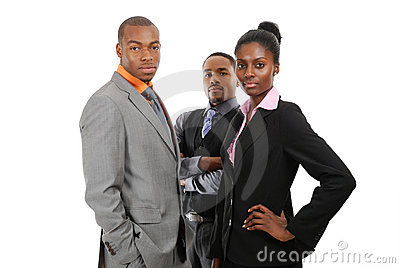 Position d équipe d affaires d Afro-américain