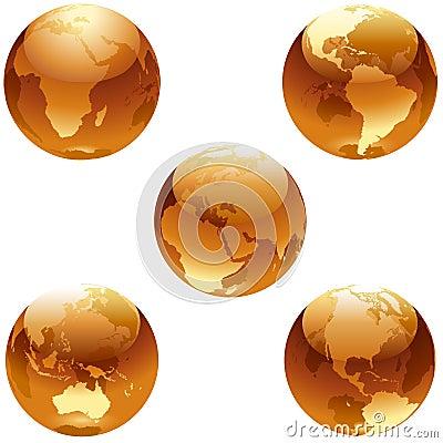 Positionnement de miel de la terre