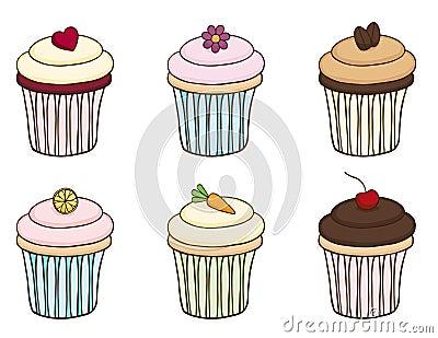 Positionnement de petit gâteau de griffonnage