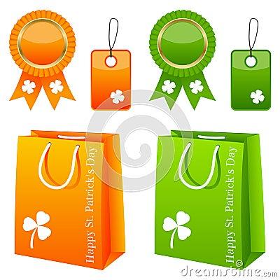 Positionnement de vente de jour de St Patrick s